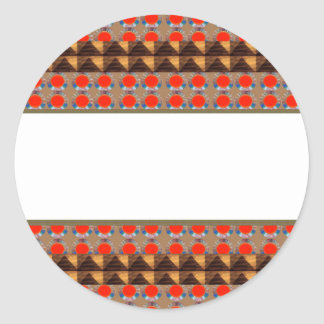Template Border add TEXT Jewel FASHION lowprice Classic Round Sticker