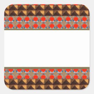 Template Border add TEXT Jewel FASHION lowprice Square Sticker