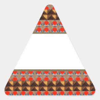 Template Border add TEXT Jewel FASHION lowprice Triangle Sticker
