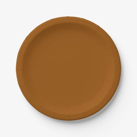 Template Brown Paper Plate