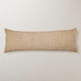 Template - Burlap Background Body Pillow