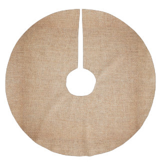 Template - Burlap Background Brushed Polyester Tree Skirt