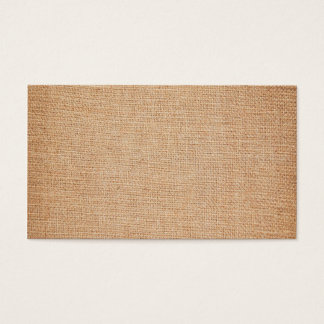 Template - Burlap Background Business Card
