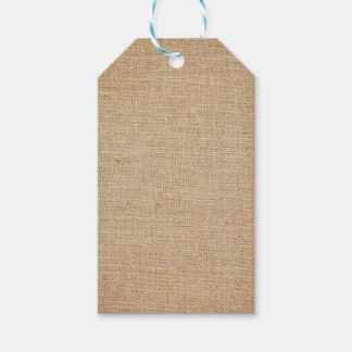 Template - Burlap Background Gift Tags