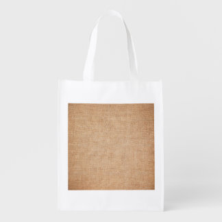 Template - Burlap Background Grocery Bags