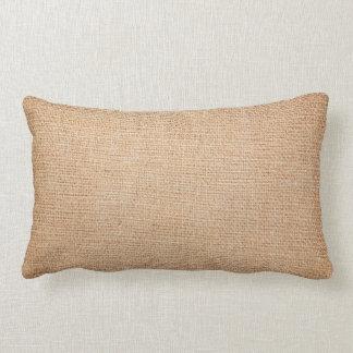 Template - Burlap Background Lumbar Pillow