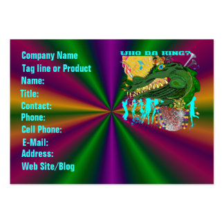 Template Business Card Mardi Gras