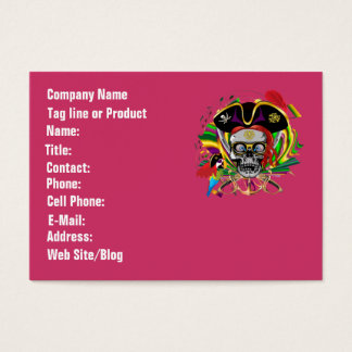 Template Businesss Card Mardi Gras