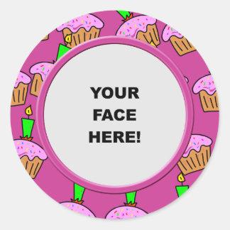 Template, Cake Border Classic Round Sticker