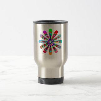 Template CHAKRA Style Art CUSTOMIZE add text image Travel Mug