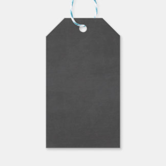 Template - Chalkboard Background Customize Pack Of Gift Tags