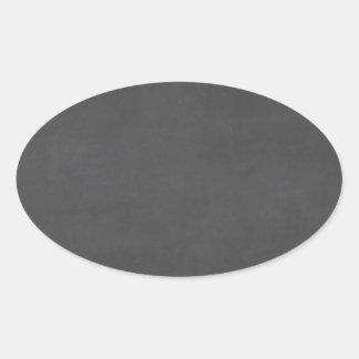Template - Chalkboard Background Customize Oval Sticker