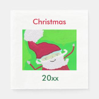 Template Christmas Napkins