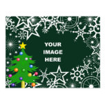 Template, Christmas Snowflake Border Postcard