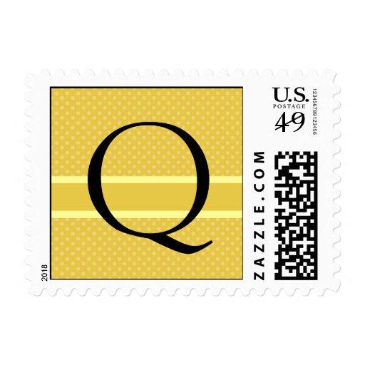 Template Custom Monogram Q Wedding Postage Stamp
