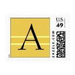 Template Custom Monogram Wedding Postage Stamp