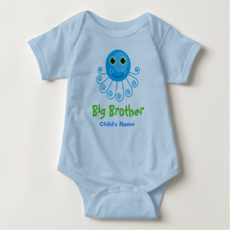 Template - Custom Octopus Big Brother Child's Name Baby Bodysuit