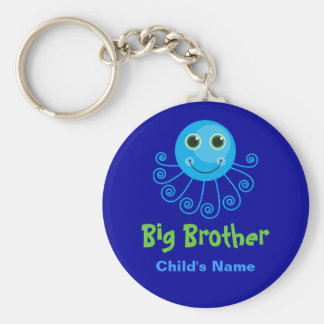 Template - Custom Octopus Big Brother Child's Name Keychain