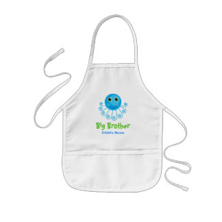 Template - Custom Octopus Big Brother Child's Name Kids' Apron
