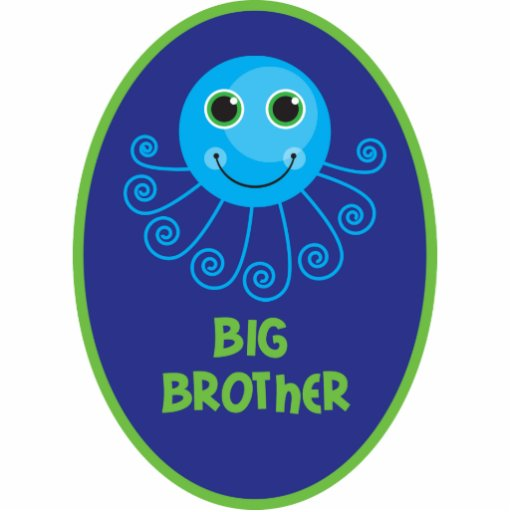 Template - Custom Octopus Big Brother Child's Name Photo Cutouts