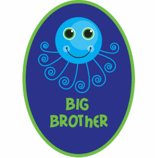 Template - Custom Octopus Big Brother Child's Name Statuette