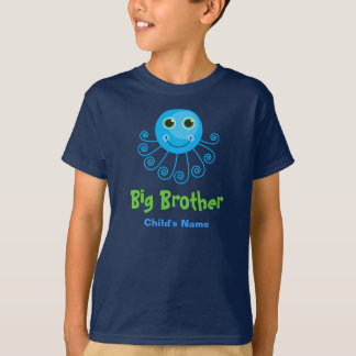 Template - Custom Octopus Big Brother Child's Name T-Shirt