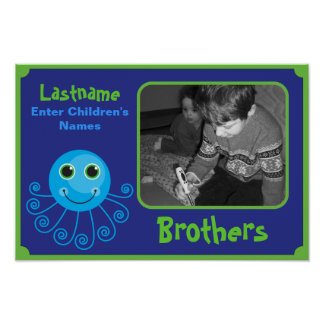Template - Custom Octopus Brothers Child's Name Print