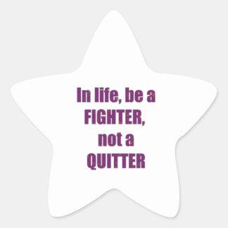 TEMPLATE Customer Reseller FIGHTER QUITTER Wisdom Sticker