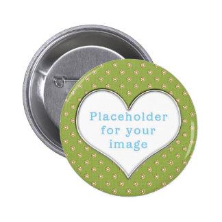 "Template ""Cute Flowers"" Pinback Button"