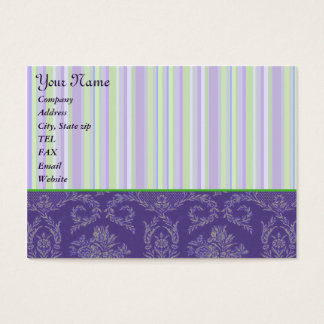 Template - Damask & Stripes Chubby Card