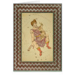 Template - Decorative Colorful Lithographed Border Greeting Cards