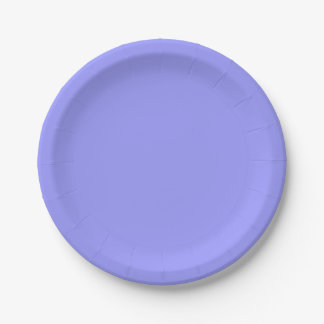 Template Deep Periwinkle Paper Plate