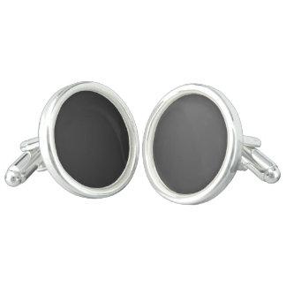 Template DIY add photo logo text sterling silver Cufflinks