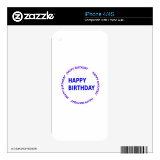 Template DIY easy customize add TEXT IMAGE PHOTO iPhone 4S Skin