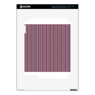 Template DIY gifts Creative lines colorful stripes Decals For iPad 3