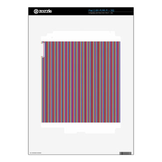 Template DIY gifts Creative lines colorful stripes Skins For The iPad 2