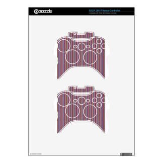 Template DIY gifts Creative lines colorful stripes Xbox 360 Controller Skins