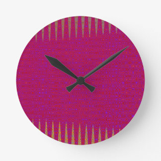 Template DIY Holy Purple add TEXT PHOTO IMAGE Round Clock