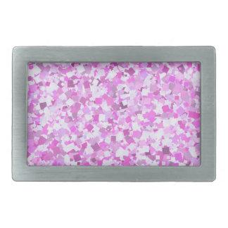 Template DIY Pink Graffiti Confetti Add Text Image Rectangular Belt Buckles