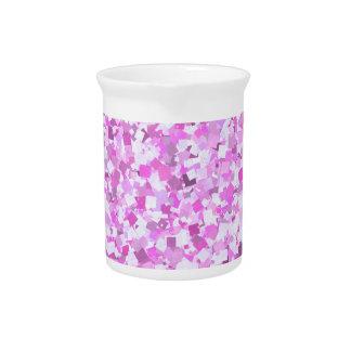 Template DIY Pink Graffiti Confetti Add Text Image Drink Pitcher