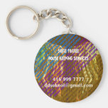 Template : DIY Replace your OWN TEXT n Image Basic Round Button Keychain