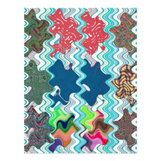 Template DIY Waves Patterns Textures Colorful Gift Letterhead