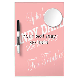 template dry erase board with mirror