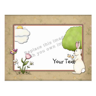 Template - Easter design with bunny Postcard