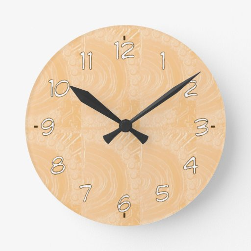 Template Engraved Gold Foil : Add Text Image Wall Clock