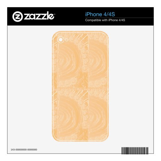 Template Engraved Gold Foil : Add Text Image iPhone 4 Decal