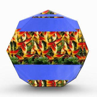 Template Flowers painted stripes add TXT IMAGE FUN Acrylic Award