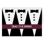 Template for BRIDESMAN Invitation - 3 Tuxedos