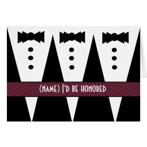Template for GROOMSMEN Invitation - 3 Tuxedos