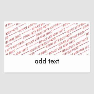 Template for Panoramic, Group or Class Photo Rectangular Sticker